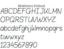lokletters Potlood by LeFly Font